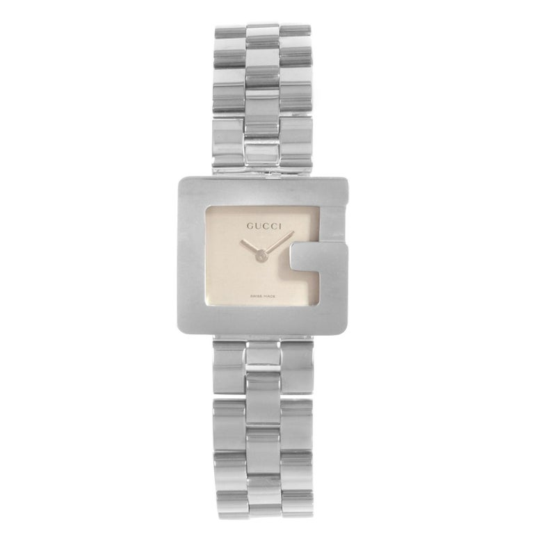 cc702e1b1a4 Gucci 3600L Square Face Silver Dial Steel Quartz Ladies Watch YA036504 For  Sale