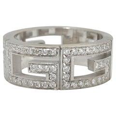 "Gucci ""3G Logo"" Diamond and 18 Karat Gold Ring"