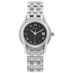 Gucci 5500 L Stainless Steel Black Dial Quartz Ladies Watch YA055503