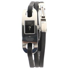 Gucci 6100L Wrap Quartz Watch Stainless Steel and Leather 14