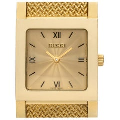 Gucci 7900 Series 7900, Gold Dial, Certified and Warranty