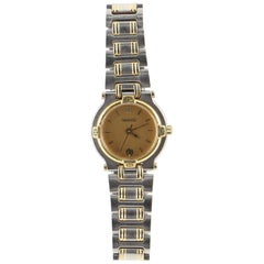 Gucci 9000L Date Quartz Watch Stainless Steel and Plated Metal 25