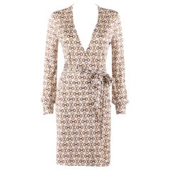 GUCCI A/W 2005 Horsebit Equestrian Bridle Belted Silk Classic Wrap Dress