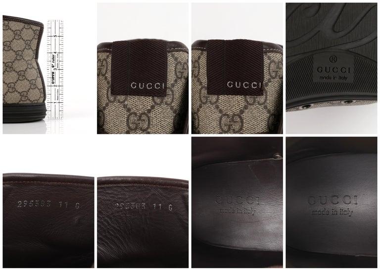 """GUCCI A/W 2012 """"California"""" GG Guccissima Monogram Canvas High Top Sneakers For Sale 6"""