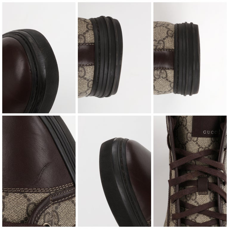 """GUCCI A/W 2012 """"California"""" GG Guccissima Monogram Canvas High Top Sneakers For Sale 7"""