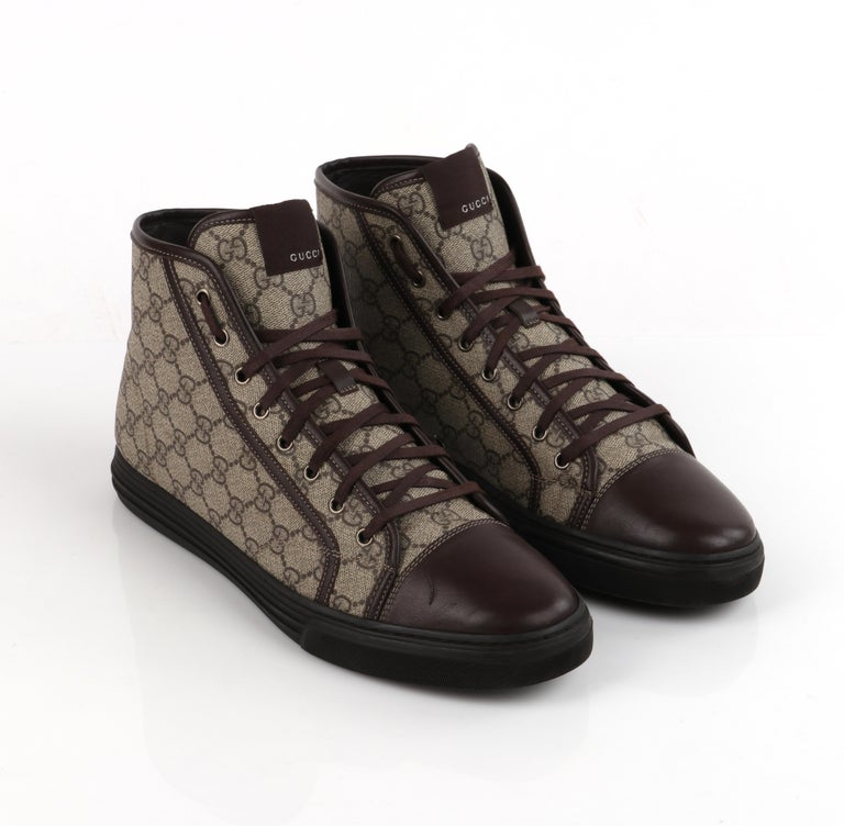 """GUCCI A/W 2012 """"California"""" GG Guccissima Monogram Canvas High Top Sneakers For Sale 1"""
