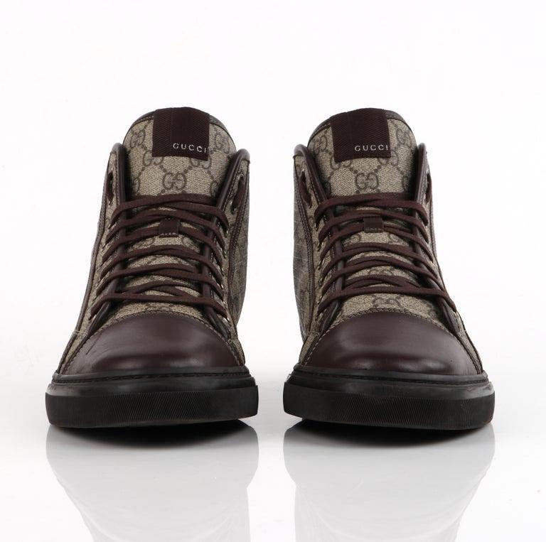 """GUCCI A/W 2012 """"California"""" GG Guccissima Monogram Canvas High Top Sneakers For Sale 2"""