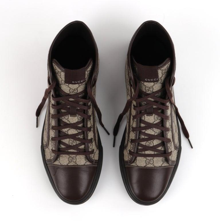 """GUCCI A/W 2012 """"California"""" GG Guccissima Monogram Canvas High Top Sneakers For Sale 4"""