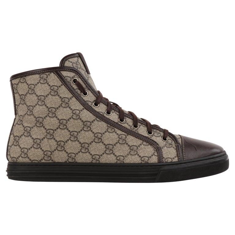 """GUCCI A/W 2012 """"California"""" GG Guccissima Monogram Canvas High Top Sneakers For Sale"""