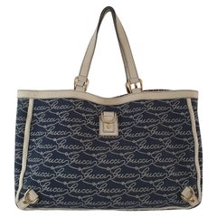 Gucci, Abbey tote Vintage in blue canvas
