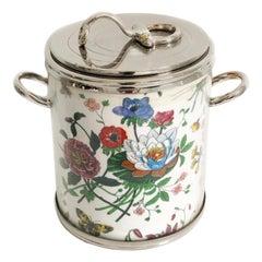 Gucci Accornero Flora Wine Cooler Ice Bucket Vintage Barware
