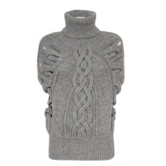 Gucci Alpaca Sleeveless Turtleneck S
