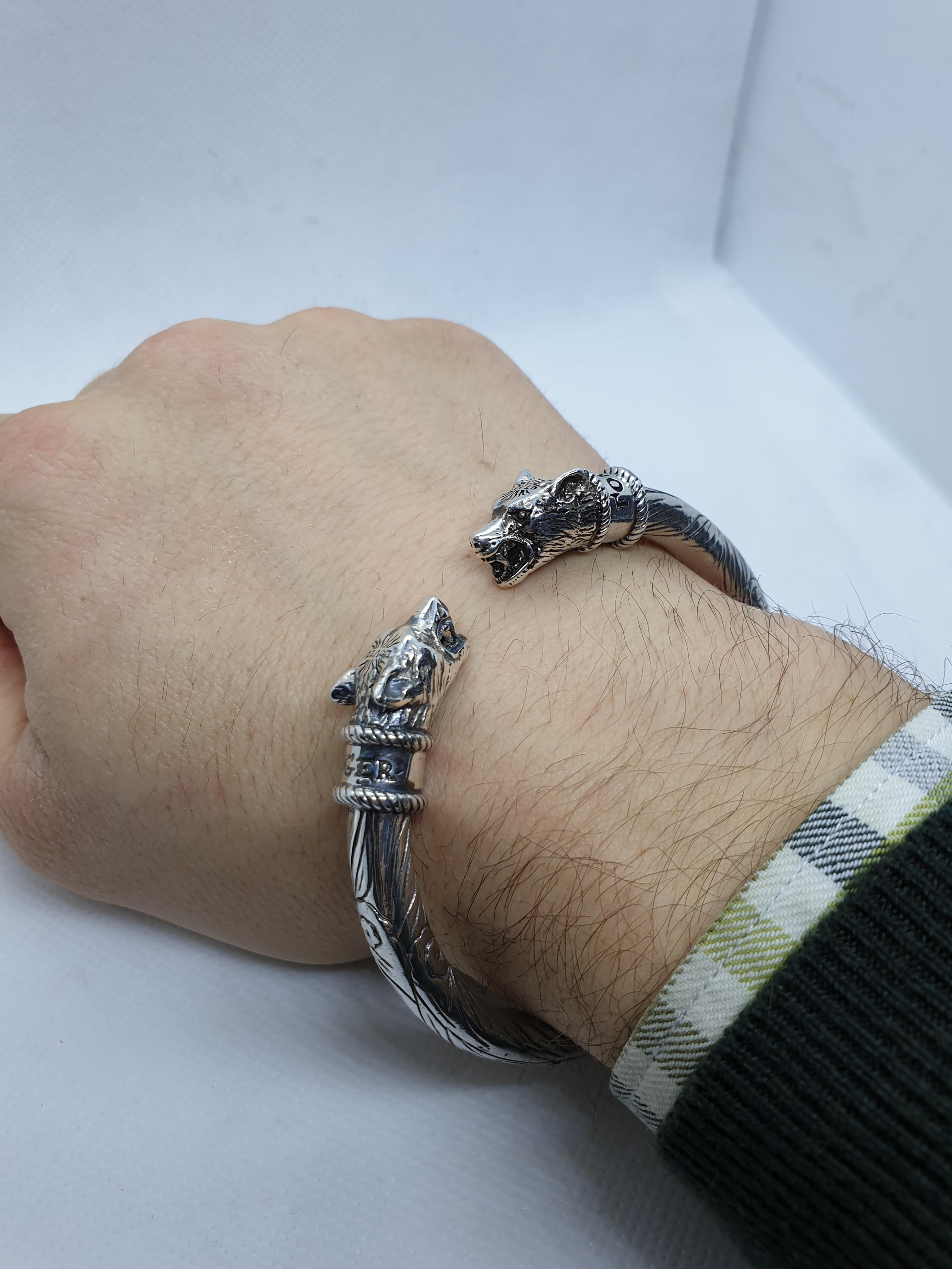 2d13175c7 Gucci Anger Forest Sterling Silver Man Bracelet, 2010s For Sale at 1stdibs