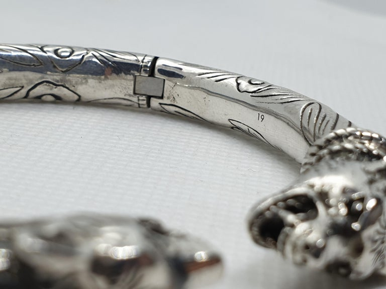 3d1f8ad55 Gucci Anger Forest Sterling Silver Man Bracelet, 2010s In Excellent  Condition For Sale In firenze