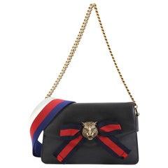 Gucci Animalier Broadway Bow Flap Bag Leather Mini