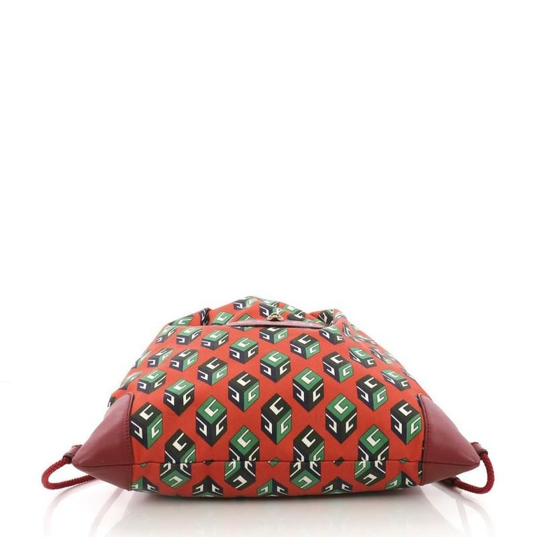 40d70fbce244 Women's or Men's Gucci Animalier Drawstring Backpack Printed Canvas Large  For Sale