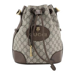 Gucci Animalier Drawstring Bucket Backpack GG Coated Canvas Mini