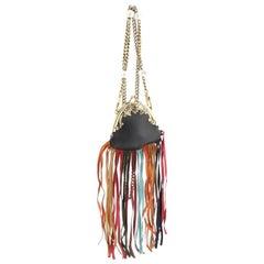 Gucci Animalier Frame Bag Multicolor Fringe