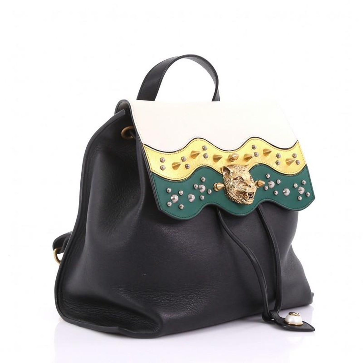 6e3625418312bd Gucci Animalier Malin Backpack Studded Leather Medium For Sale at 1stdibs