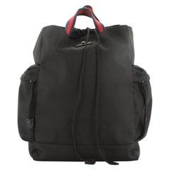Gucci Animalier Web Drawstring Backpack Techno Canvas Large