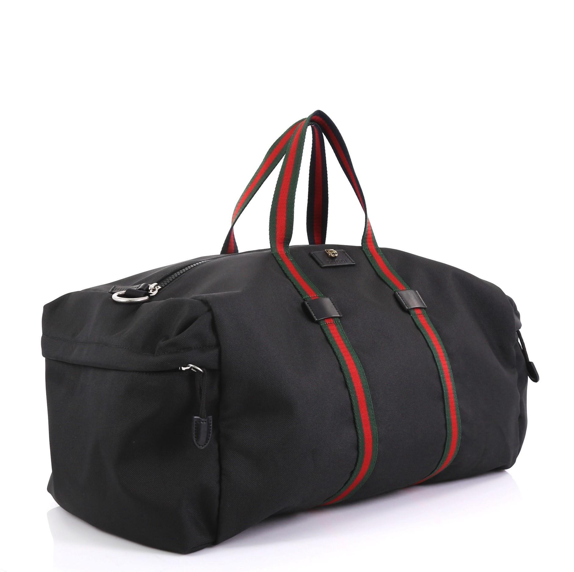 11601c137 Gucci Animalier Web Duffle Bag Techno Canvas Large at 1stdibs