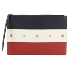 Gucci Animalier Zip Pouch Colorblock Leather Medium