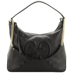 Gucci Apollo Shoulder Bag GucciGhost Embossed Leather Large