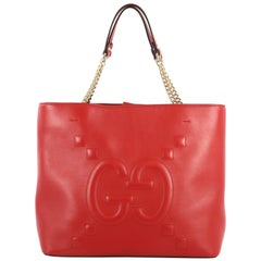 Gucci Apollo Tote GucciGhost Embossed Leather Large