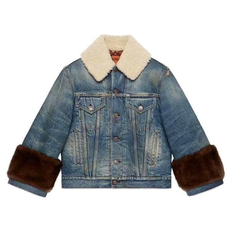 Alessandro Michele for Gucci denim jacket, 21st century, offered by Nikki Bradford