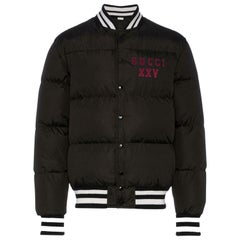 Gucci Appliquéd Quilted Shell Bomber Jacket