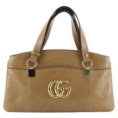 Gucci Arli Top Handle Bag Python Large