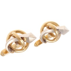 Gucci Arrow Multihued Gold Cufflinks
