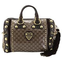 Gucci Babouska Boston Bag GG Coated Canvas Large