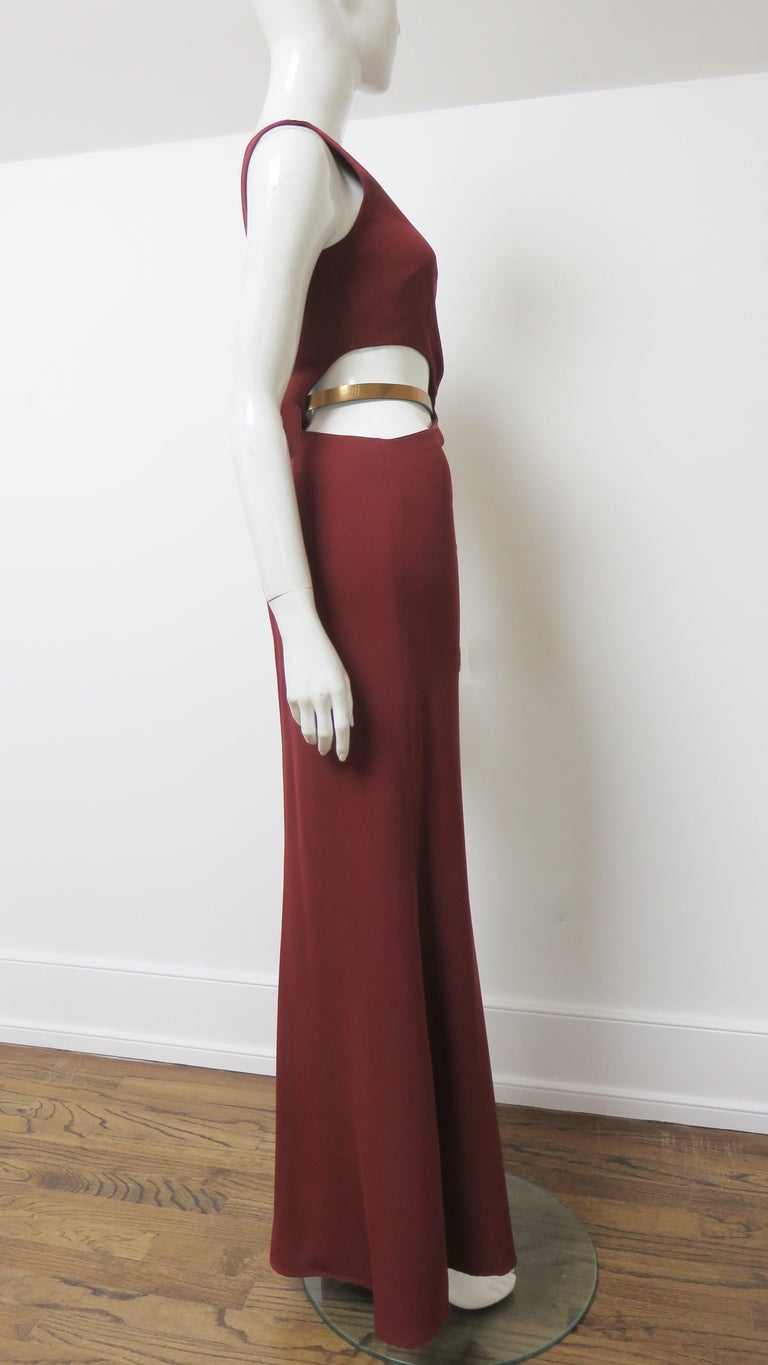 Gucci Backless Dress with Belted Waist Cut out  For Sale 7