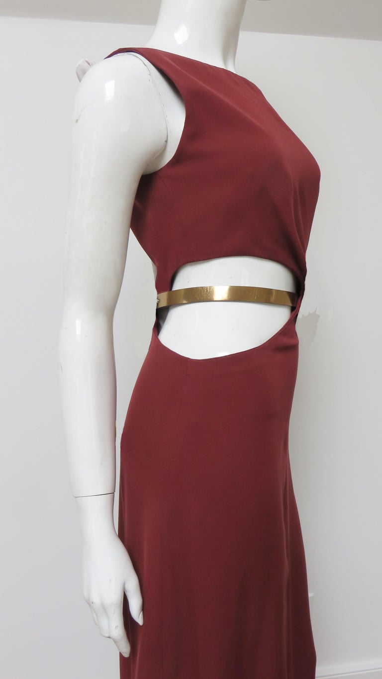 Gucci Backless Dress with Belted Waist Cut out  For Sale 8