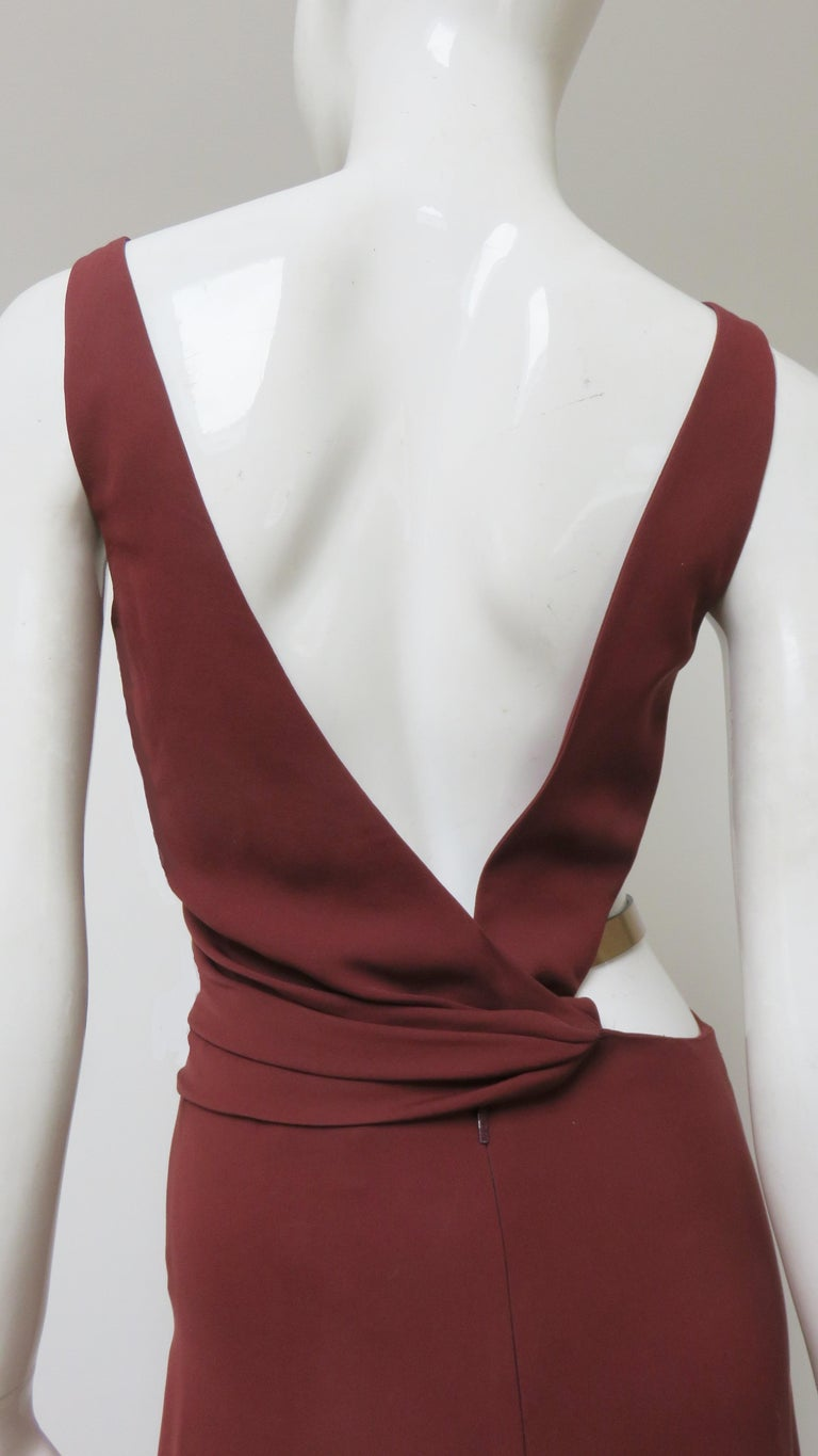 Gucci Backless Dress with Belted Waist Cut out  For Sale 11