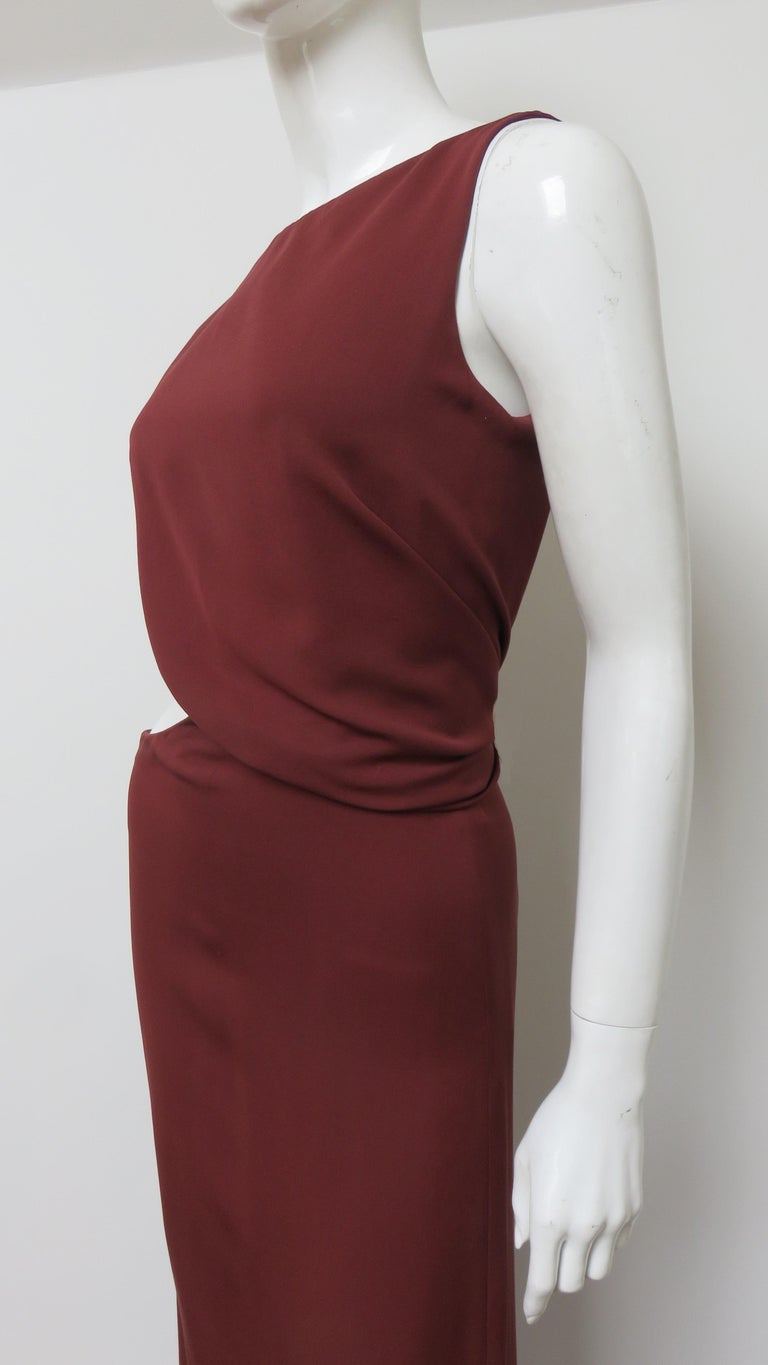 Gucci Backless Dress with Belted Waist Cut out  For Sale 1