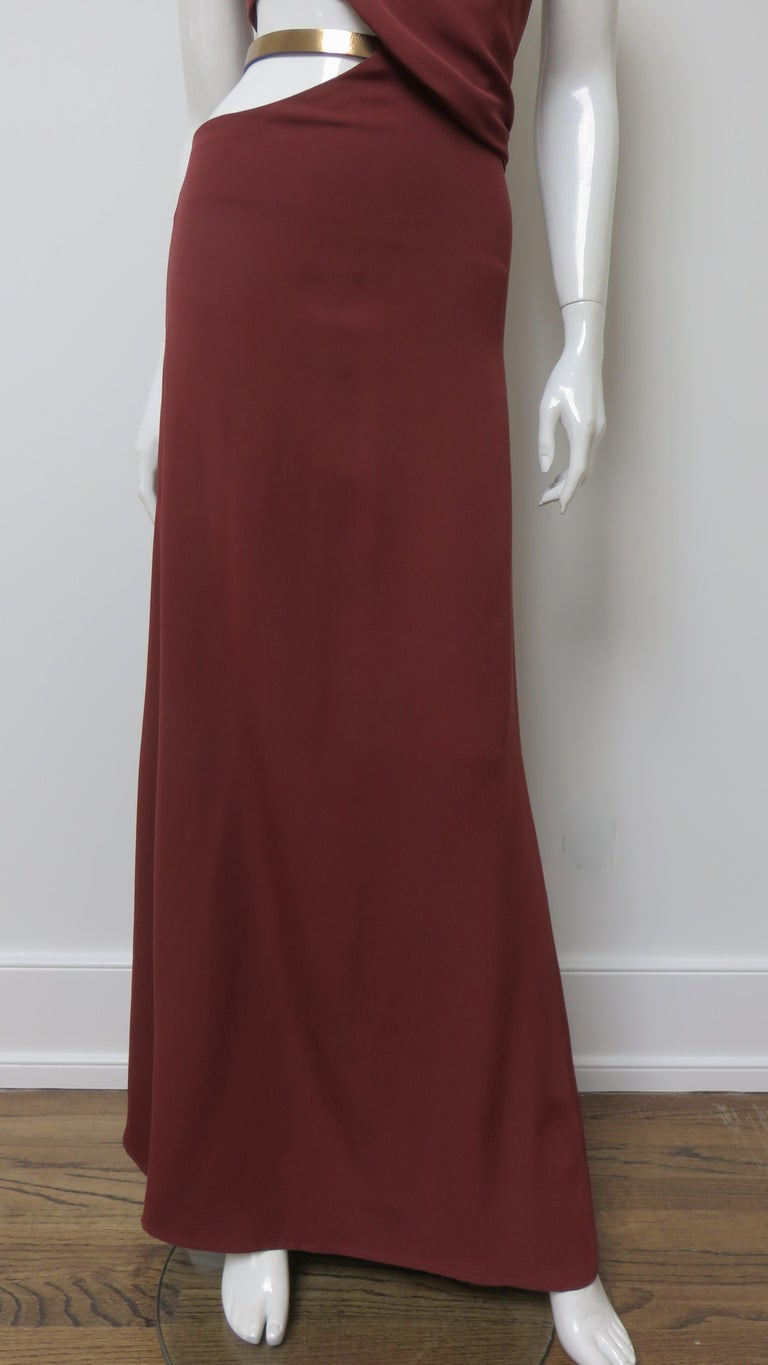 Gucci Backless Dress with Belted Waist Cut out  For Sale 2