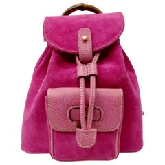 Gucci 2000s Pink Mini Suede Backpack