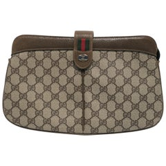 Gucci Leather and Canvas Handbag Clutch