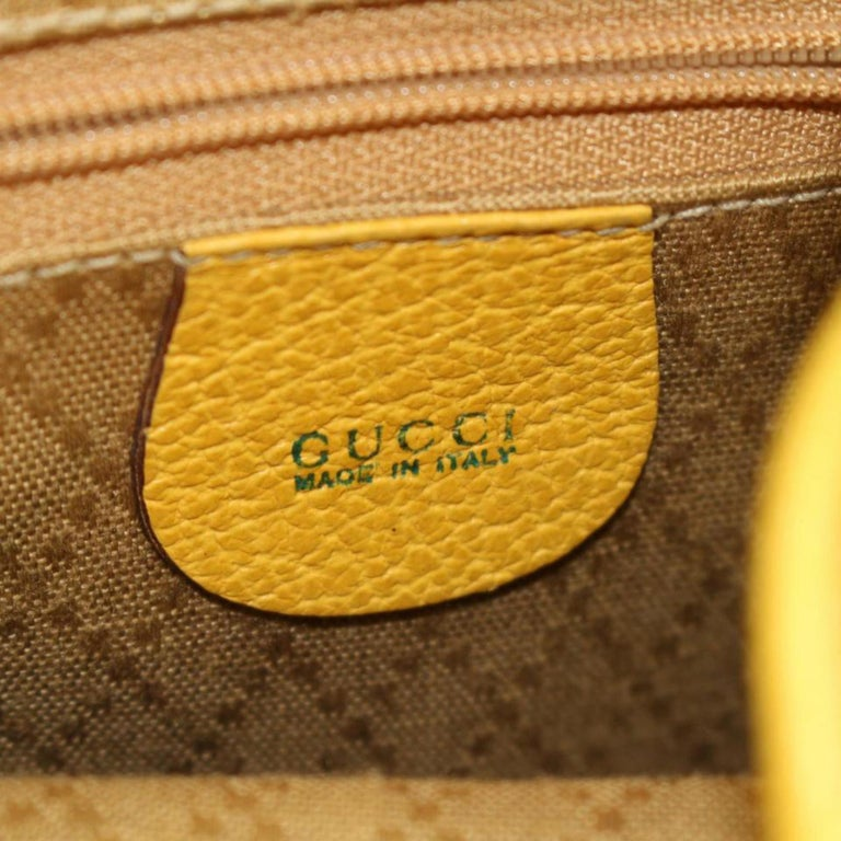 488eed7e915c Gucci Bamboo 867509 Yellow Suede Leather Backpack For Sale at 1stdibs