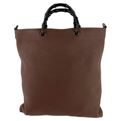 Gucci Bamboo Brown Large Shopper Tote with Strap