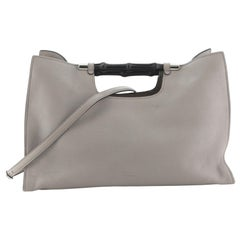 Gucci Bamboo Convertible Daily Tote Leather Wide