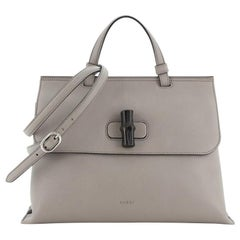 Gucci Bamboo Daily Top Handle Bag Leather Medium