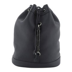 Gucci Bamboo Drawstring Backpack Leather