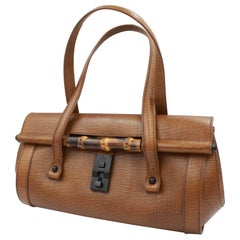 Gucci Bamboo handbag in brown leather