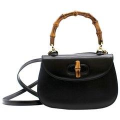 Gucci Bamboo Handle Mini Black Bag
