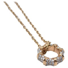 Gucci Bamboo in 18 Karat Rose Gold and Diamonds Necklace