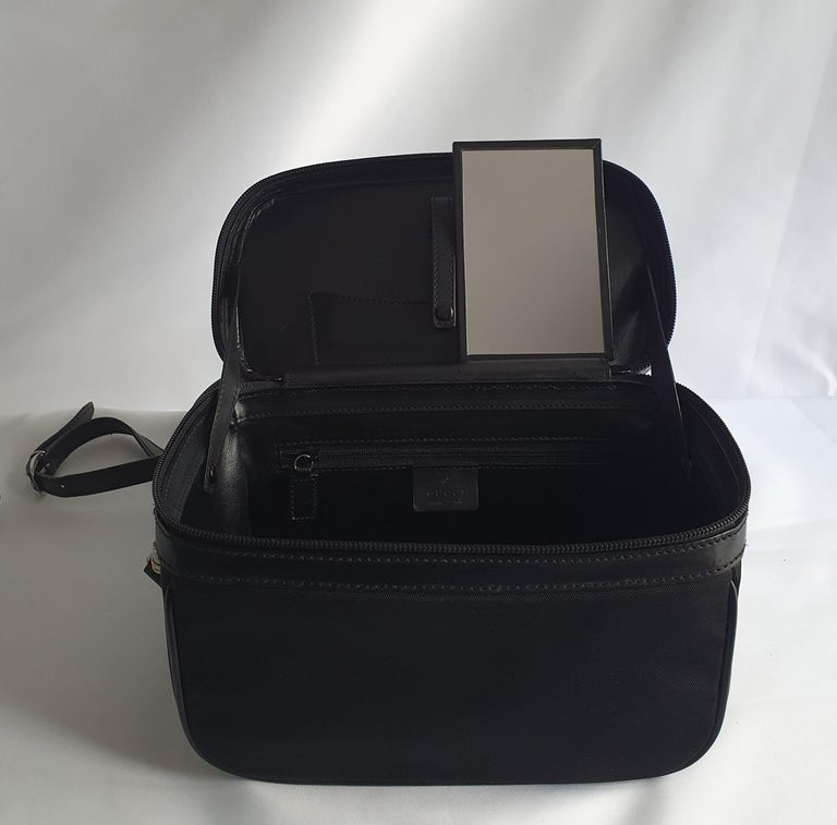Gucci, Bamboo in black cloth For Sale 4