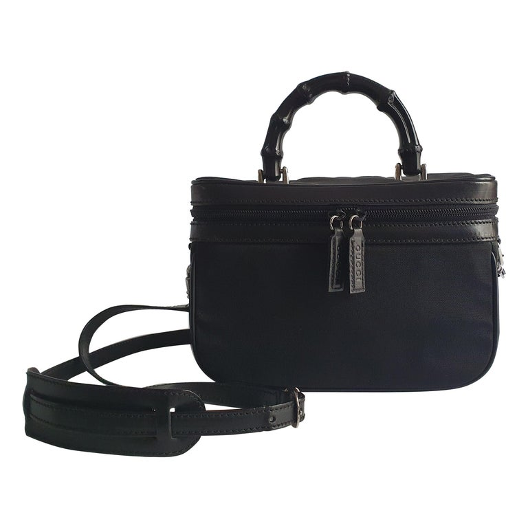 Gucci, Bamboo in black cloth For Sale